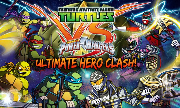 Turtles Ninja vs Power Rangers The Ultimate Hero Clash